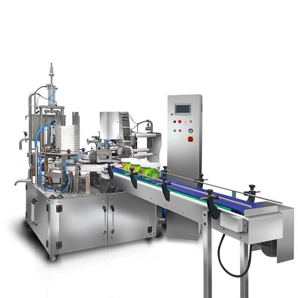 Yogurt Bucket Filling Sealing Capping Machine