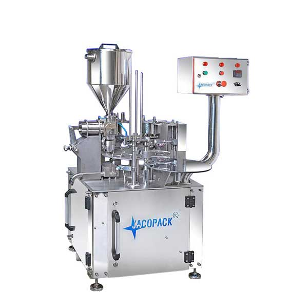 Mechanical Rotary Cup Filling Sealing Machine
