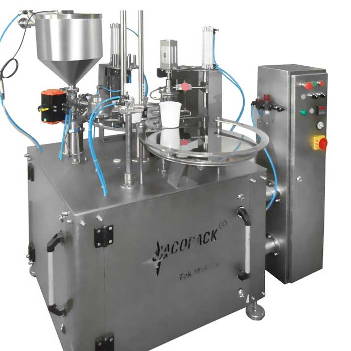 Cup Filling Sealing Machines - 1Line Rotary