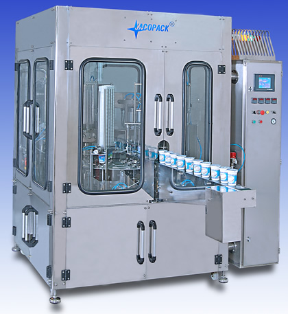 Cup Filling Sealing Machine - 4 line Rotary